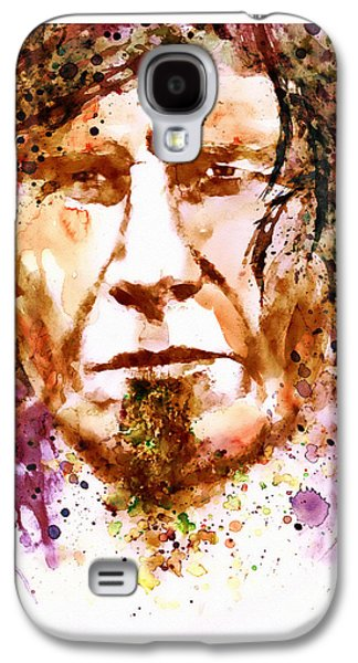 The Trees Mixed Media Galaxy S4 Cases - Mark Lanegan in watercolor Galaxy S4 Case by Marian Voicu