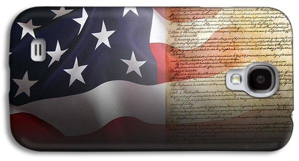 Rights Of Man Galaxy S4 Cases - Mark Twains Patriot Galaxy S4 Case by Daniel Hagerman