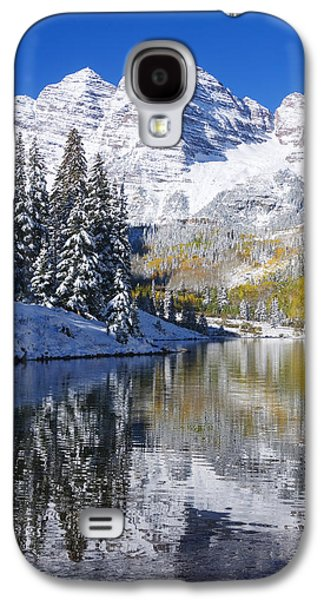 Printscapes - Galaxy S4 Cases - Maroon Lake and Bells 2 Galaxy S4 Case by Ron Dahlquist - Printscapes