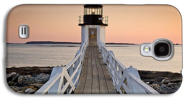 Mid-coast Maine Galaxy S4 Cases - Marshal Point Glow Galaxy S4 Case by Susan Cole Kelly