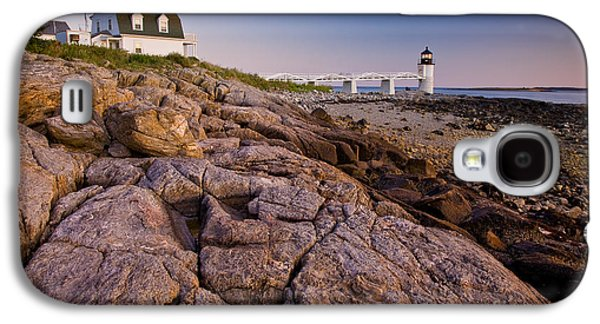 Mid-coast Maine Galaxy S4 Cases - Marshal Point Light Sunset Galaxy S4 Case by Susan Cole Kelly