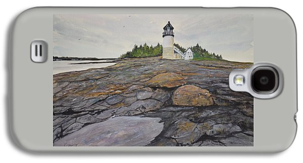 Mid-coast Maine Galaxy S4 Cases - Marshal Point Lighthouse Galaxy S4 Case by Kellie Chasse