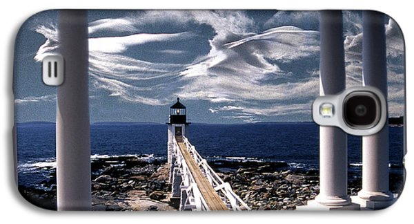 Maine Lighthouses Galaxy S4 Cases - Marshall Point Lighthouse Maine Galaxy S4 Case by Skip Willits