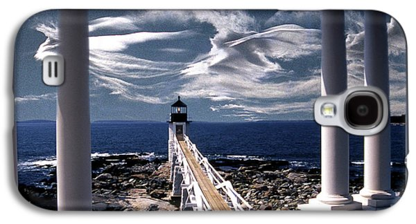 Coastal Maine Galaxy S4 Cases - Marshall Point Lighthouse Maine Galaxy S4 Case by Skip Willits