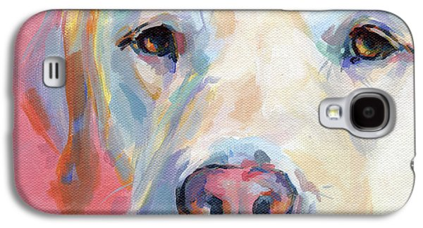 Yellow Paintings Galaxy S4 Cases - Marthas Pink Nose Galaxy S4 Case by Kimberly Santini