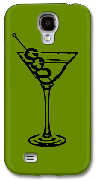 Party Birthday Party Galaxy S4 Cases - Martini Glass Tee Galaxy S4 Case by Edward Fielding