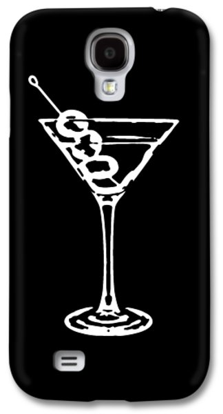 Party Birthday Party Galaxy S4 Cases - Martini Glass Tee White Galaxy S4 Case by Edward Fielding
