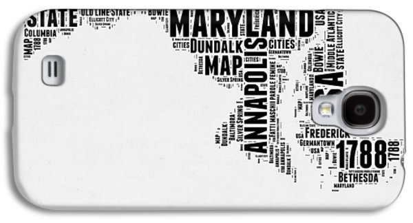 4th Of July Mixed Media Galaxy S4 Cases - Maryland Word Cloud 2 Galaxy S4 Case by Naxart Studio