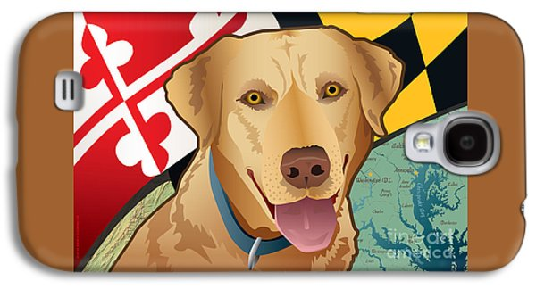 Recently Sold -  - Dogs Digital Galaxy S4 Cases - Maryland Yellow Lab Galaxy S4 Case by Joe Barsin