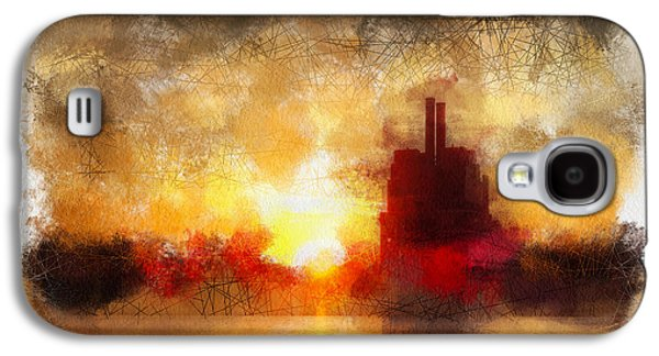 Sunset Abstract Galaxy S4 Cases - Marysville Sunset Galaxy S4 Case by Rick Lloyd