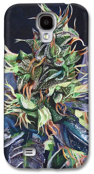 Master Paintings Galaxy S4 Cases - Master Kush Galaxy S4 Case by Anita Toke