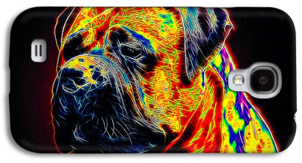Dogs Digital Art Galaxy S4 Cases - Mastiff Galaxy S4 Case by Alexey Bazhan