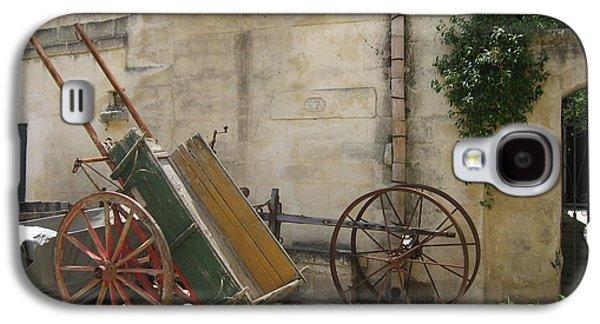 Matera Old Horsecart Italy Galaxy S4 Case by Italian Art