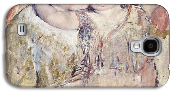 Women Together Paintings Galaxy S4 Cases - Mathilde Holding a Child Galaxy S4 Case by Mary Stevenson Cassatt