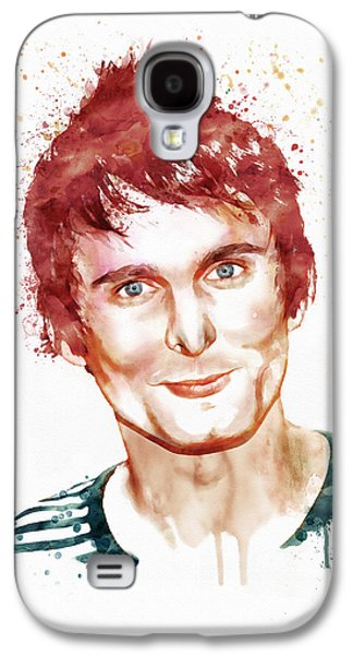 """""""square """" Mixed Media Galaxy S4 Cases - Matthew Bellamy watercolor Galaxy S4 Case by Marian Voicu"""