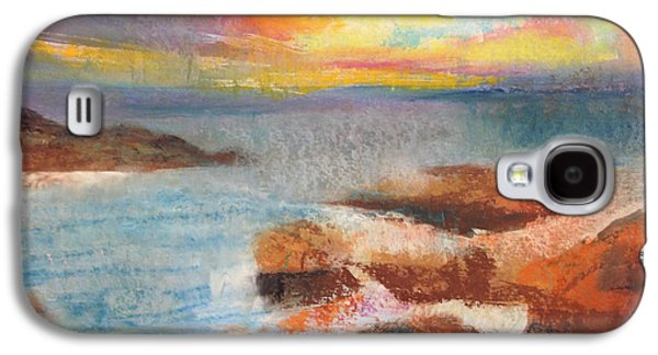 Sunset Abstract Pastels Galaxy S4 Cases - Maui Ocean at Sunset Galaxy S4 Case by Carole Sluski