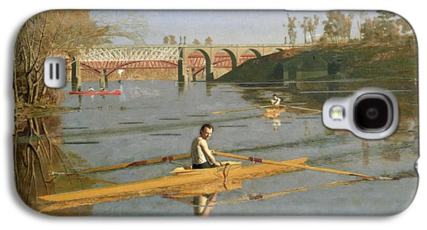 Pastimes Galaxy S4 Cases - Max Schmitt in a Single Scull Galaxy S4 Case by Thomas Cowperthwait Eakins