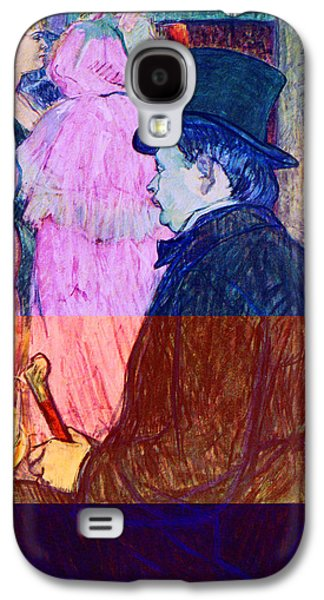 Prostitution Paintings Galaxy S4 Cases - Maxime Dethomas on the Opera Ball Galaxy S4 Case by Toulouse Lautrec