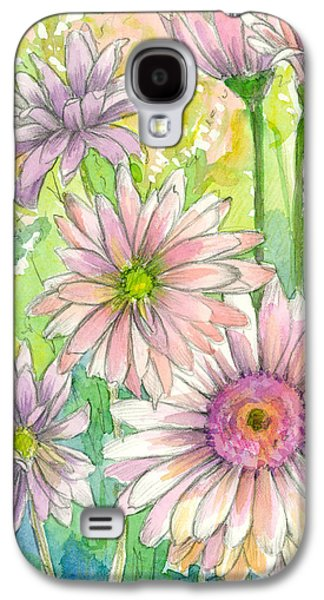 Peaches Drawings Galaxy S4 Cases - May Day Daisy Bouquet Galaxy S4 Case by Cathie Richardson