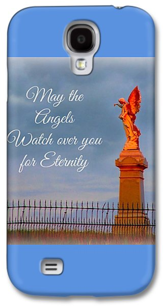 May The Angels Watch Over You Galaxy S4 Case by Julie Dant