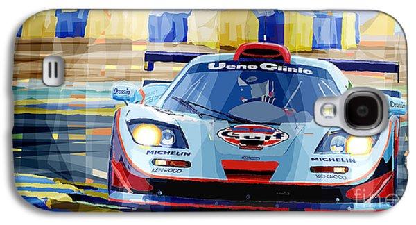 Automotive Galaxy S4 Cases - McLaren BMW F1 GTR Gulf Team Davidoff Le Mans 1997 Galaxy S4 Case by Yuriy  Shevchuk