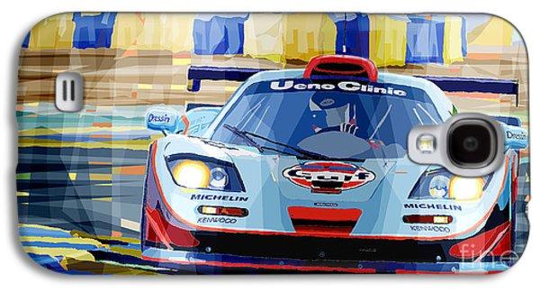 Mclaren Bmw F1 Gtr Gulf Team Davidoff Le Mans 1997 Galaxy S4 Case by Yuriy  Shevchuk