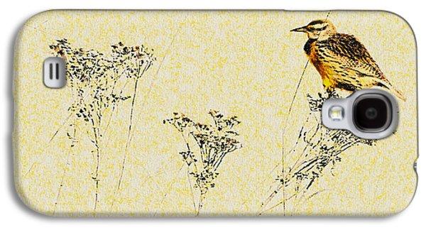 Meadowlark In Kansas Prairie 1 Galaxy S4 Case by Anna Louise