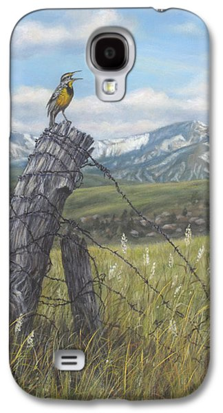 Meadowlark Serenade Galaxy S4 Case by Kim Lockman