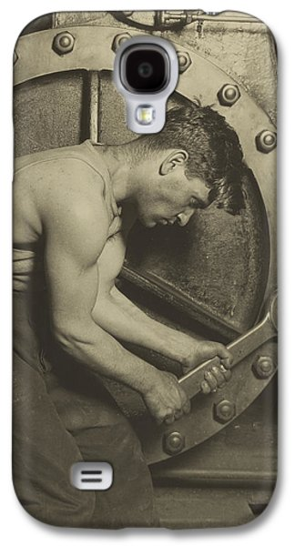 Laborers Galaxy S4 Cases - Mechanic and Steam Pump Galaxy S4 Case by Lewis Wickes Hine