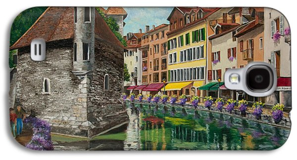 Jail Paintings Galaxy S4 Cases - Medieval Jail in Annecy Galaxy S4 Case by Charlotte Blanchard