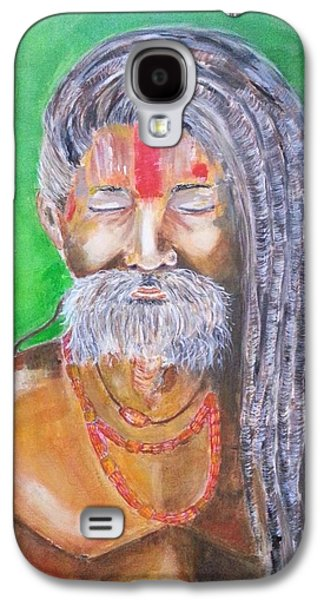Inner Self Galaxy S4 Cases - Meditation - portrait of a Sadhus Holy Man Galaxy S4 Case by Cristina Parus