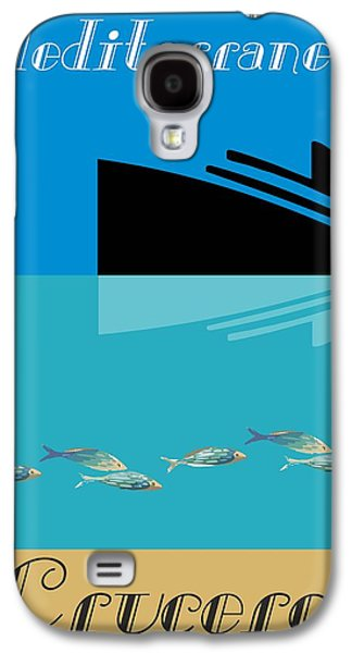 Digital Abstract Drawings Galaxy S4 Cases - Mediterranean By Quim Abella Galaxy S4 Case by Joaquin Abella