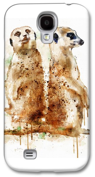 Digital Galaxy S4 Cases - Meerkats Galaxy S4 Case by Marian Voicu