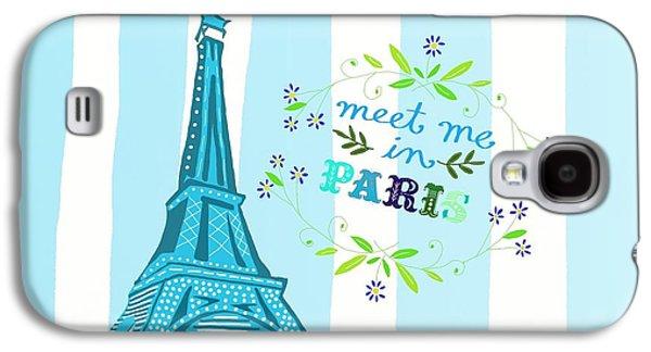 Meet Me In Paris Galaxy S4 Case by Priscilla Wolfe