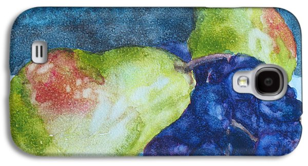 Pears Paintings Galaxy S4 Cases - Meeting Over Grapes Galaxy S4 Case by Jenny Armitage