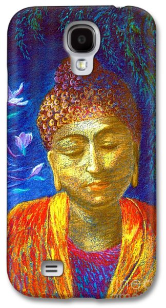Meeting With Buddha Galaxy S4 Case by Jane Small