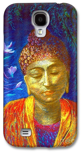 Peaceful Galaxy S4 Cases - Meeting with Buddha Galaxy S4 Case by Jane Small