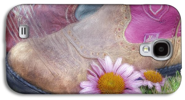 Cowboy Life Photographs Galaxy S4 Cases - Megaboots 2015 Galaxy S4 Case by Joan Carroll