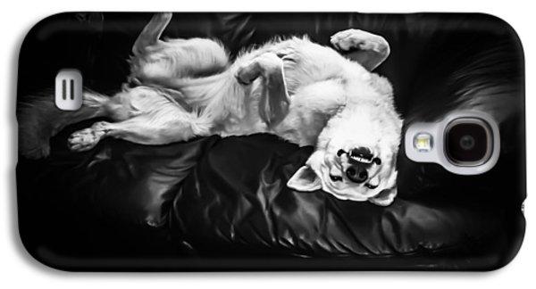 Puppies Digital Art Galaxy S4 Cases - Mein Bett Funf Galaxy S4 Case by Heather Joyce Morrill