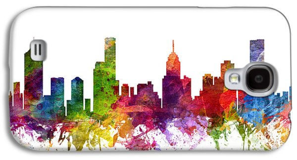Australia Drawings Galaxy S4 Cases - Melbourne Australia Cityscape 06 Galaxy S4 Case by Aged Pixel