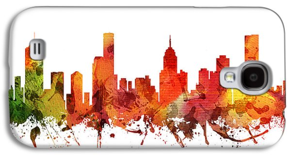 Australia Drawings Galaxy S4 Cases - Melbourne Cityscape 04 Galaxy S4 Case by Aged Pixel