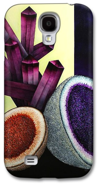Abstract Nature Glass Galaxy S4 Cases - Melons and Amethyst Galaxy S4 Case by Jose Masis-Oliver