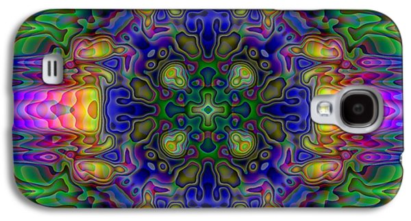 Kaleidoscope Galaxy S4 Cases - Melted Galaxy S4 Case by Lyle Hatch