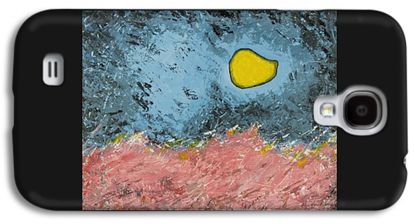 Surreal Landscape Galaxy S4 Cases - Melting Moon Over Drifting Sand Dunes Galaxy S4 Case by Ben Gertsberg