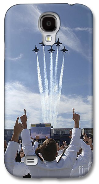 Uniform Galaxy S4 Cases - Members Of The U.s. Naval Academy Cheer Galaxy S4 Case by Stocktrek Images