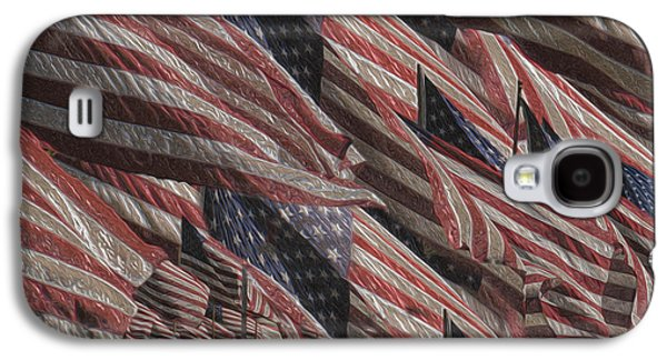Stars And Stripes Paintings Galaxy S4 Cases - Memorial Galaxy S4 Case by Jack Zulli
