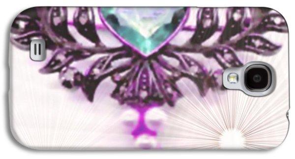 Abstract Digital Pastels Galaxy S4 Cases - Memories of Grandmas Brooches no. 13 H b Galaxy S4 Case by Gert J Rheeders