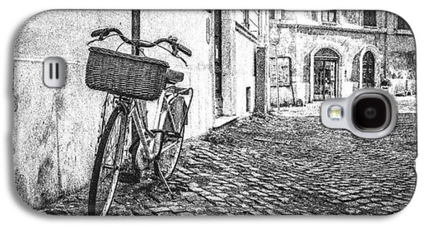 Bike Drawings Galaxy S4 Cases - Memories of Italy Sketch Galaxy S4 Case by Edward Fielding