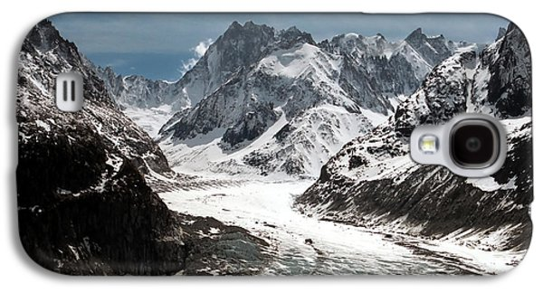 Snow Melt Galaxy S4 Cases - Mer de Glace - Mont Blanc Glacier Galaxy S4 Case by Frank Tschakert