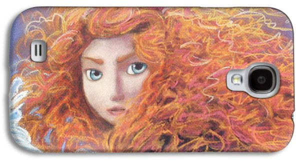 Orange Pastels Galaxy S4 Cases - Merida from Pixars Brave Galaxy S4 Case by Andrew Fling